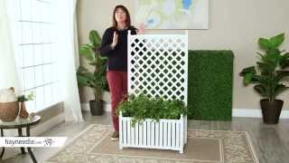 4.5-foot Rectangle Solid Wood Lexington Lattice Planter With Trellis - Product Review Video