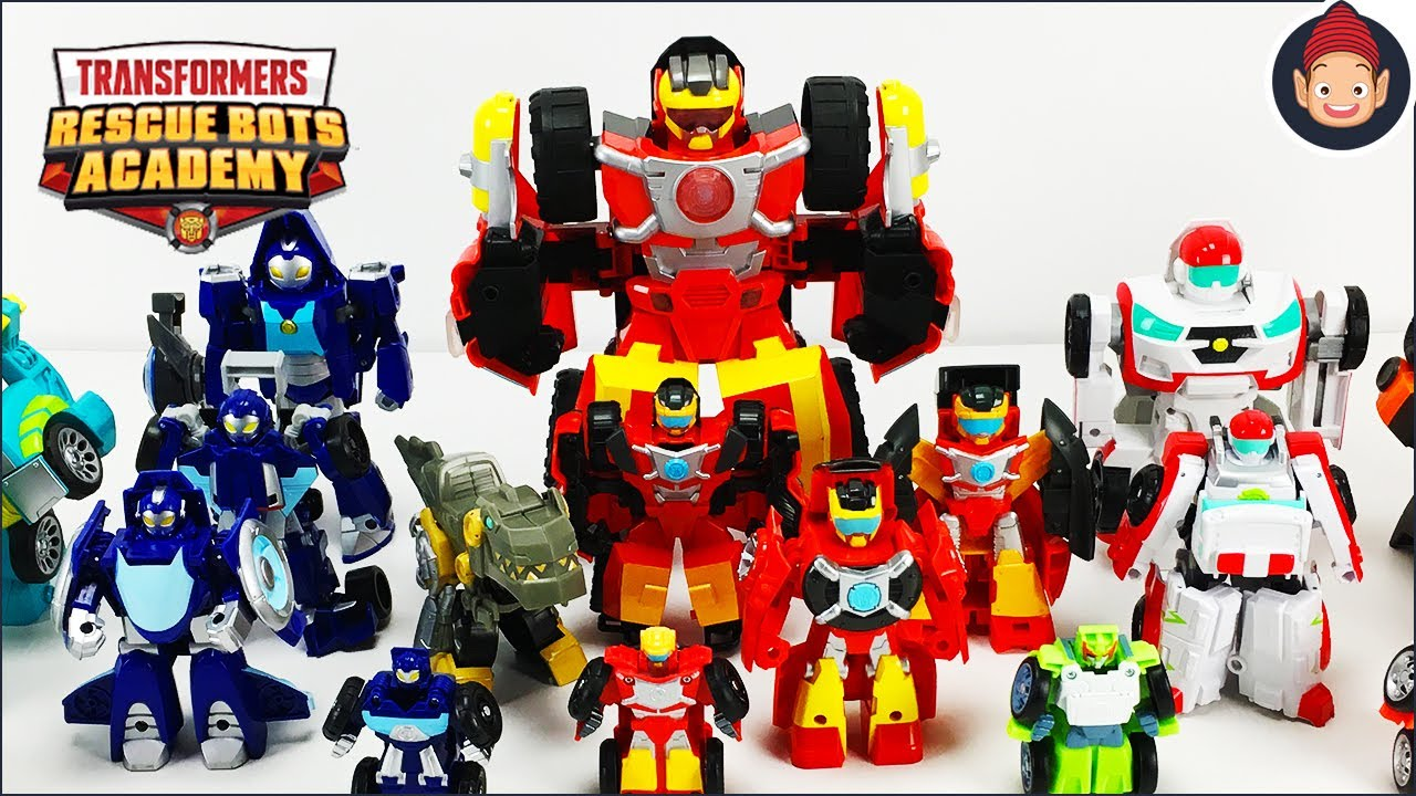 Transformers Rescue Bots Academy Rescue Team Set of 4 Whirl Wedge Hoist Hot Shot