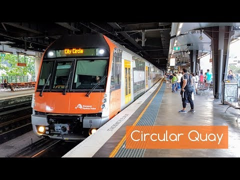 Sydney Trains Vlog 1515: Circular Quay With A Variety Of Trains