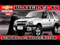 NUMERO DO CHASSI E MOTOR CHEVROLET BLAZER 4.3 - V6 [ VIDEO AULA ]