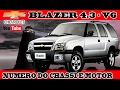 CHEVROLET BLAZER 4.3 - V6 - NUMERO DO CHASSI E MOTOR