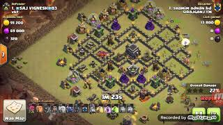 BE A BETTER TOWN HALL 9 ATTACKER(5 healers, 3 pekka, bowlers). Clash of Clans