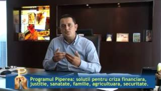 Repeat youtube video Partea 1 - Avocatul Gheorghe Piperea vorbind despre Programul Piperea