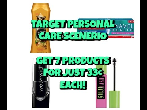 (Video #2)  3/12-3/18 Target Personal Care Scenario...7 items for 33¢ each!