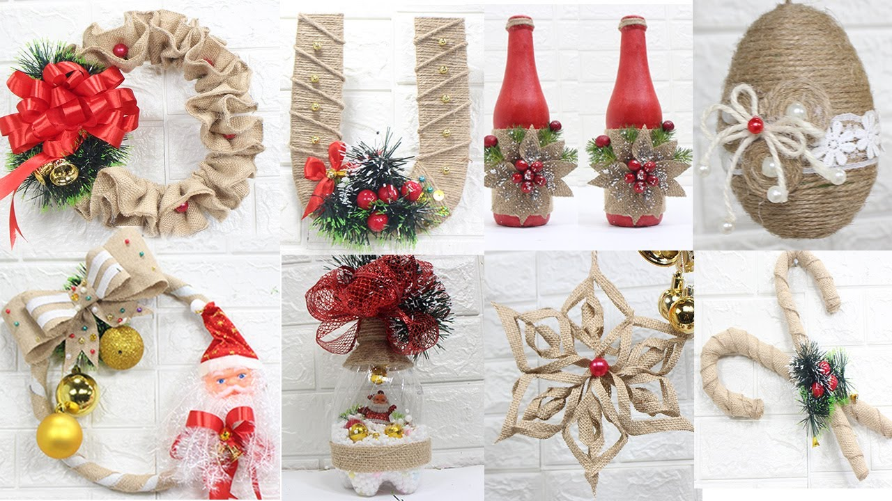 14 Jute Craft Christmas Decorations Ideas Home Decorating Ideas Youtube