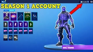 FAN GIVES ME RARE SEASON 1 ACCOUNT WITH OG SKULL TROOPER (50,000 VBUCKS!) | Fortnite Rare Accounts!