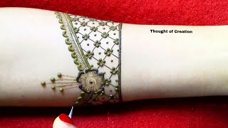 Easy Simple Stylish Bridal Mehndi Design for Hands |Thought of Creation
