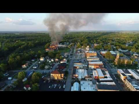 Old Lawrenceville High School Fire on May 25, 2017