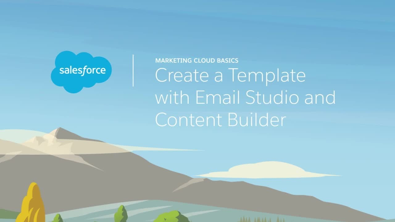 Email Studio Content Builder Create A Template Youtube