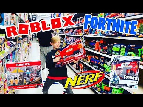 FORTNITE TOY HUNTING! Shopping 4 NEW #FORTNITEIRL #ROBLOXTOYS #NERF @ GameStop Walmart Target