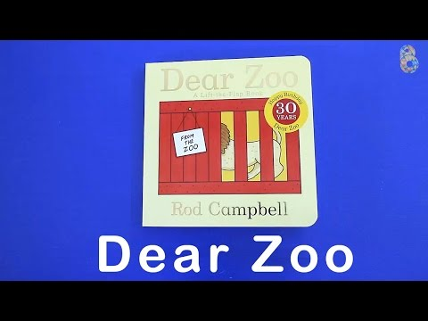 Dear Zoo Book - Learning Animals Names and Sounds for kids with A Lift the Flap book