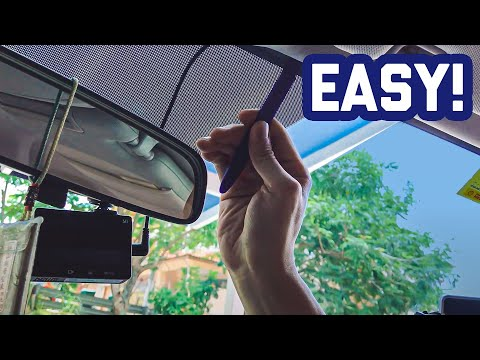 DIY : Easy Way To Hide Your Dashcam Wire Perfectly! (without Open A-pillar)