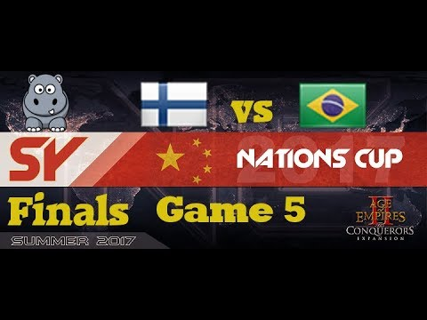 AoE2 SY Nationscup | Finals | Finland vs Brazil B - Game5 - Migration
