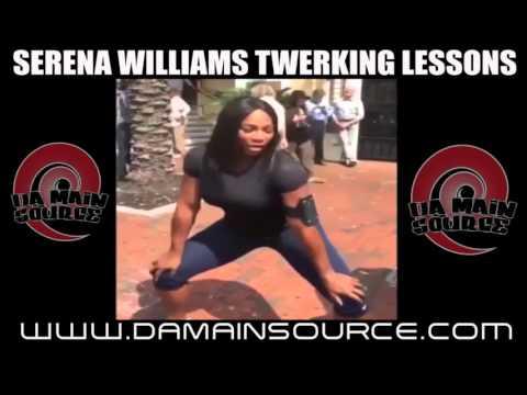 Serena williams twerkin to lil wayne