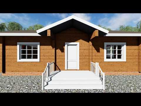 Проект одноэтажного дома из бруса