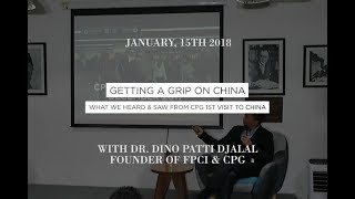 Dr. Dino Patti Djalal - Getting a Grip on China