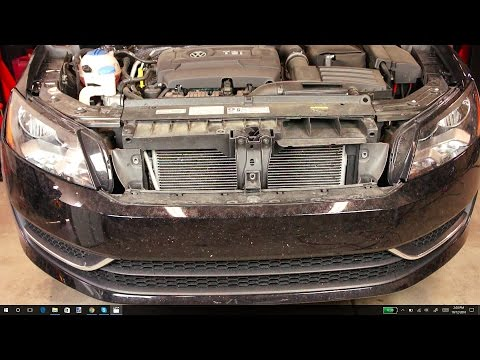 2012+ VW Passat front bumper and grill removal