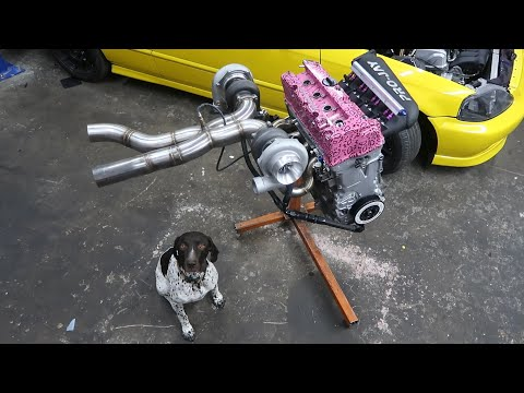 Assembling a 1000Hp Twin Turbo Honda Engine!