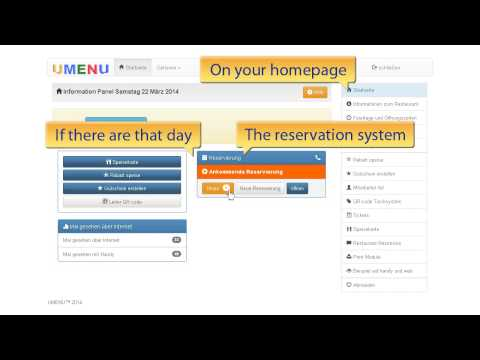 UMENU United Kingdom Trailer 04   Reservation System