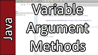 Variable Argument Methods - Java Programming Tutorial #33 (PC / Mac 2015)