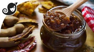 Apple Tamarind Chutney  Sauce sweetened with Date and Jaggery  VeganVegetarian Recipe