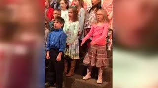 6-Year-Old Girl Steals the Show During Choir Concert