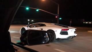 Lamborghini Aventador vs Mustang GT on the Streets!