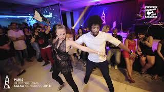 Terry SalsAlianza & Alex - social dancing @ PARIS INTL SALSA CONGRESS 2018