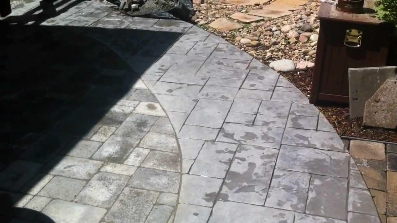 Installing Pavers Next To Concrete Paver Patio Youtube