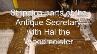 Secretary Refinish Part I By Hal The Woodmeister