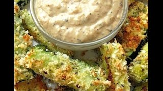 How To Make Baked Zucchini Sticks Recipe With Sweet Onion Dip !