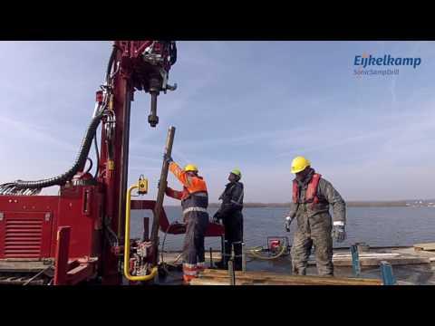 Eijkelkamp SonicSampDrill SRS ML near offshore sampling AquaLock 4 inch