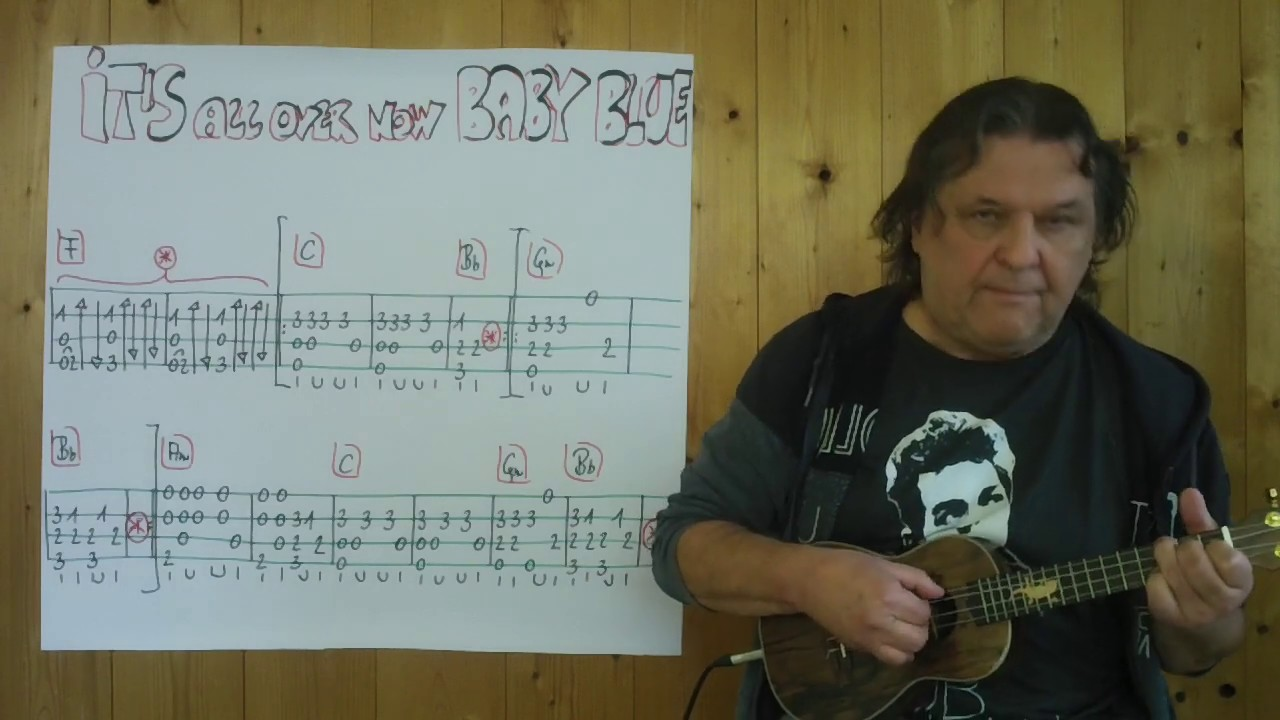Fingerstyle UKULELE Lesson #372: IT'S ALL OVER NOW, BABY BLUE (Bob Dylan)