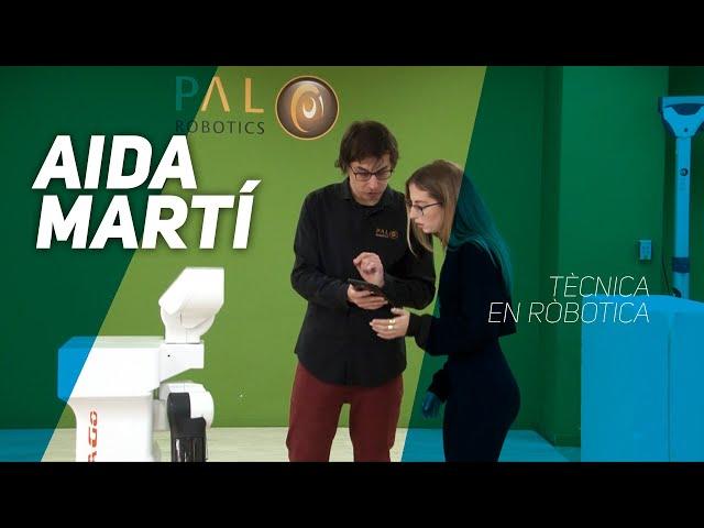 L'Aida Martí fa de tècnica en robòtica