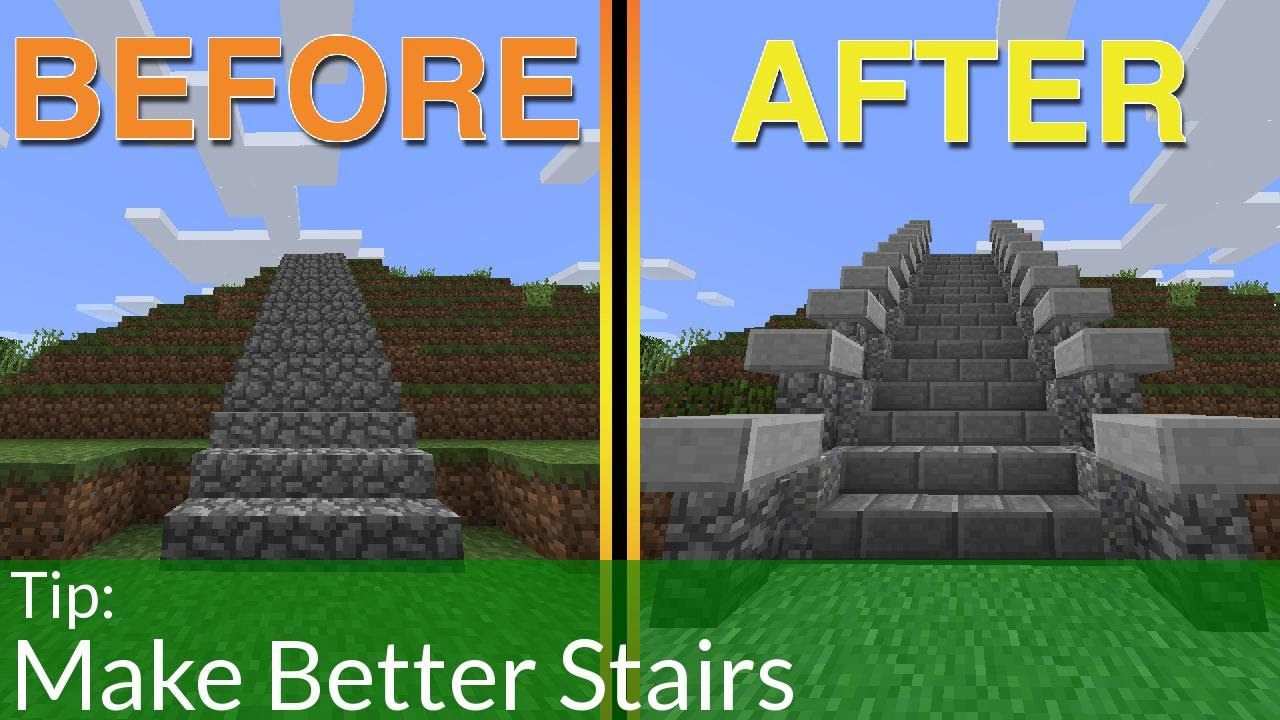 How To Build Staircase In Minecraft