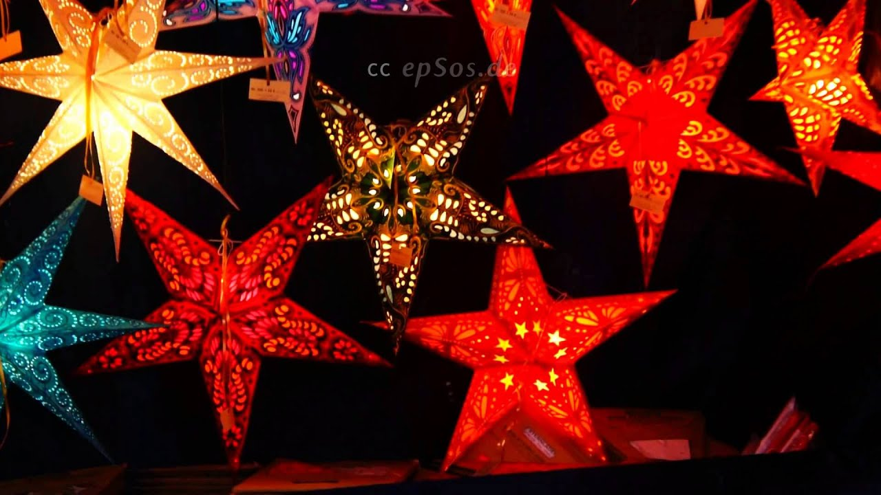 magic christmas stars for decoration in germany youtube
