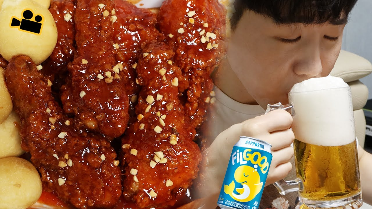 이번엔 양념 닭다리에 필굿! 시네마먹방 Spicy chicken Leg & Filgood & Cheese ball ENG Cinema Mukbang DoNam