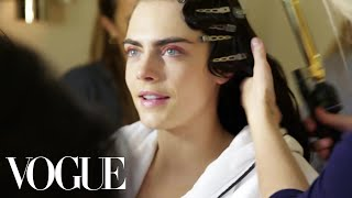 Cara Delevingne Gets Ready for the Met Gala | Vogue