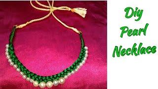 मार्किट जैसा सुंदर नेकलेस घर में बनाएं घर में सिर्फ 10 मिनट में । How to Make Silk Thread Necklace