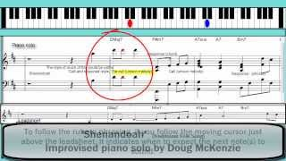 'Shenandoah' - jazz piano tutorial