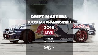 Drift Masters European Championship 2018 - LIVE Qualifying in Toruń, Poland