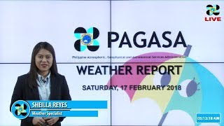 Public Weather Forecast Issued at 4:00 AM February 17, 2018