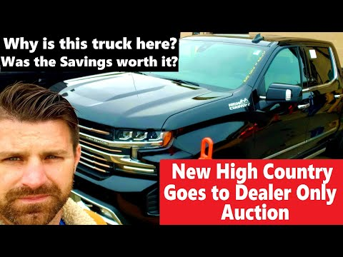 How Much Is A New Chevy High Country At Dealer Only Auction