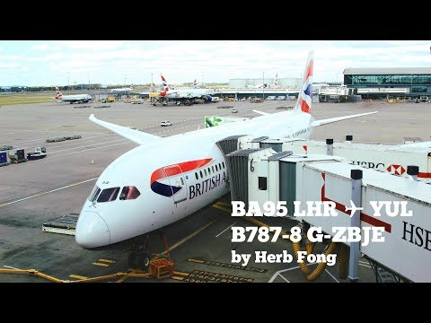 British Airways BA95 LHR ✈ YUL on Boeing 787-8 G-ZBJE (feat. distant air-to-air footage with 747!)