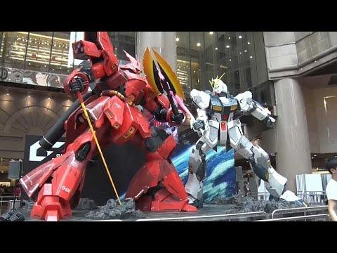 شاهد : روبوتان عملاقان لأشهر أبطال الرسوم المتحركة في هونغ كونغ …  - 16:21-2018 / 8 / 11