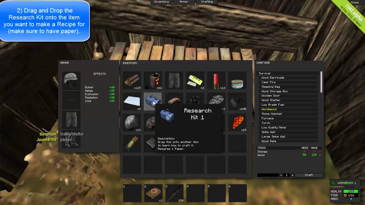 How to use a research kit rust youtube malvernweather Choice Image