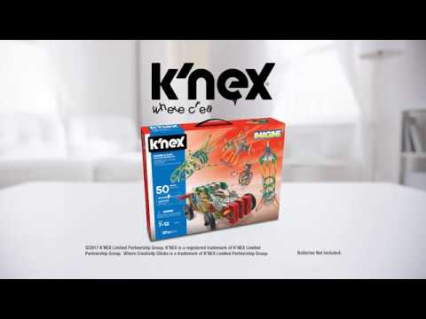UK K'NEX Imagine Power and Play motorized building set video