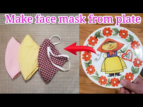 an-easy-way-to-make-a-face-mask|-diy-mask-pattern-from-plate