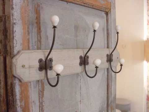 Percheros y perchas de pared youtube for Ganchos para percheros de hierro