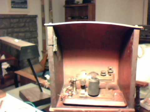 Bunnell Mascot resonator hood with 1875 Style sounder playing American Morse